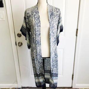 Anthropologie | Elodie Blue Paisley Boho Kimono